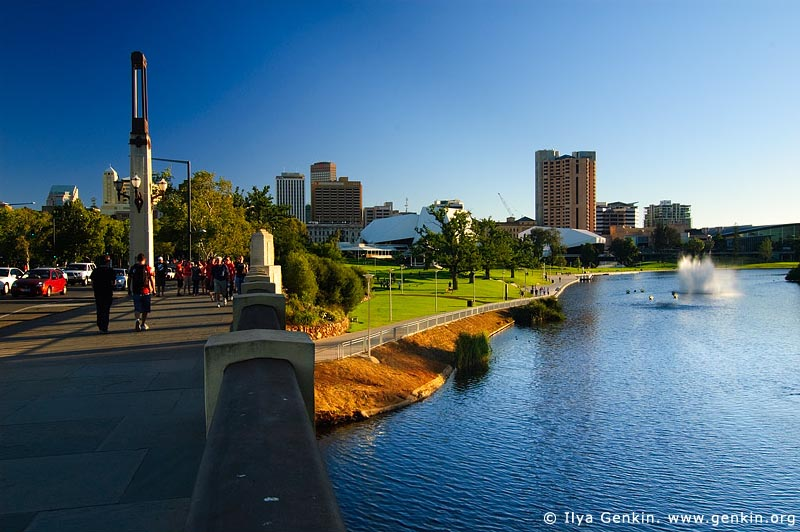 australia stock photography | Adelaide CBD from King William Bridge, Adelaide, South Australia, Australia, Image ID AU-ADEL-0001