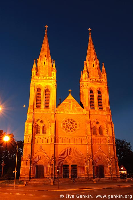australia stock photography | St Peter's Cathedral at Night, Adelaide, South Australia, Australia, Image ID AU-ADEL-0004