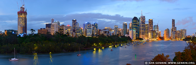 australia stock photography | Brisbane City after Sunset, Kangaroo Point, Brisbane, QLD, Australia