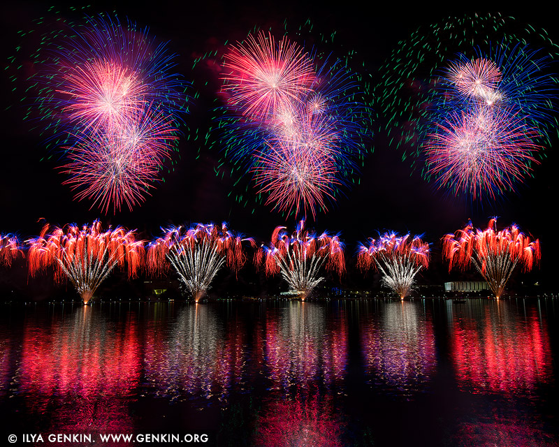 australia stock photography | Skyfire 2018 Firework Display over Lake Burley Griffin, Canberra, Australian Capital Territory (ACT), Australia, Image ID AU-CANBERRA-FIREWORKS-SKYFIRE-0001