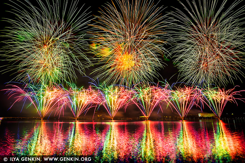 australia stock photography | Skyfire 2018 Firework Display over Lake Burley Griffin, Canberra, Australian Capital Territory (ACT), Australia, Image ID AU-CANBERRA-FIREWORKS-SKYFIRE-0005