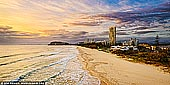 australia stock photography | North Burleigh at Sunrise from Miami Lookout, Gold Coast, Queensland, Australia, Image ID AU-GOLD-COAST-0002. North Burleigh Lookout is one of my favourite places on the Gold Coast. It provides great views. To the south views all the way to Coolangatta, Rainbow Bay and Snapper Rocks. To the north, Magic Mountain, Surfers Paradise, South Stradbroke Island and Moreton Island.