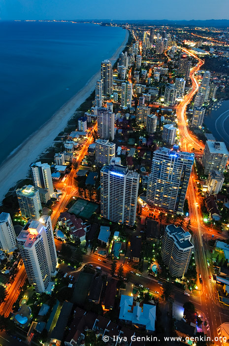 australia stock photography | Surfer's Paradise after Sunset, Q1, Surfer's Paradise, Gold Coast, Queensland (QLD), Australia, Image ID AU-GOLD-COAST-SURFERS-PARADISE-0004