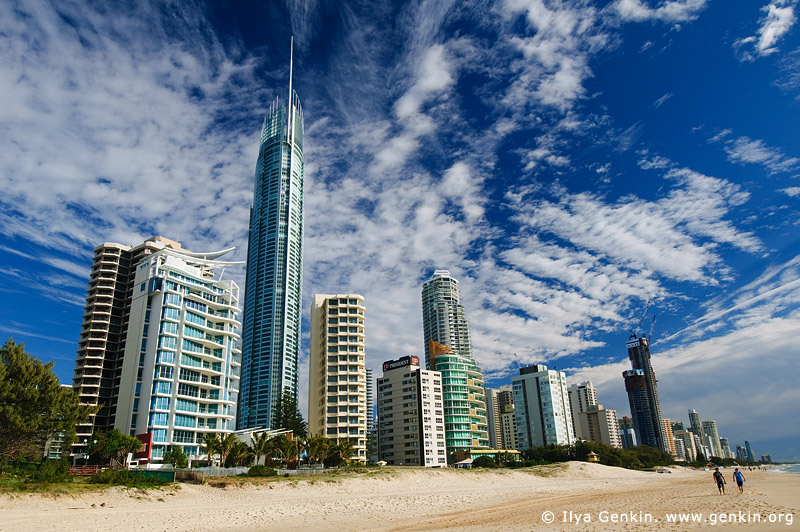 australia stock photography | Skyscrapers on Surfer's Paradise Beach, Gold Coast, Queensland (QLD), Australia, Image ID AU-GOLD-COAST-SURFERS-PARADISE-0005