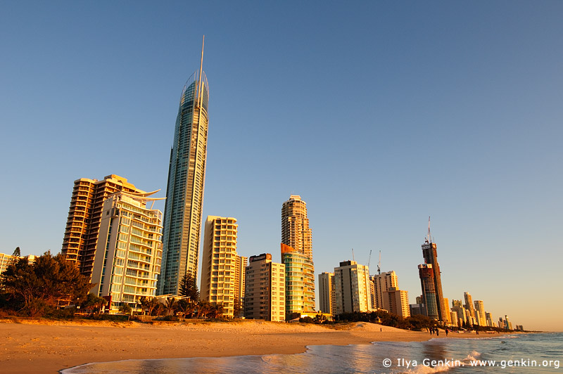 australia stock photography | Surfer's Paradise at Sunrise, Gold Coast, Queensland (QLD), Australia, Image ID AU-GOLD-COAST-SURFERS-PARADISE-0008