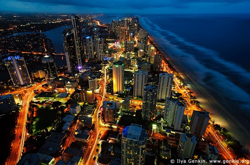australia stock photography | Surfer's Paradise after Sunset, Q1, Surfer's Paradise, Gold Coast, Queensland (QLD), Australia, Image ID AU-GOLD-COAST-SURFERS-PARADISE-0015