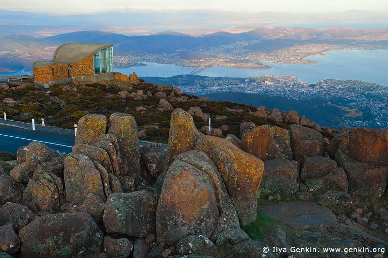 australia stock photography | Hobart From Mount Wellington Lookout, Hobart, Tasmania (TAS), Australia, Image ID AU-HOBART-0004