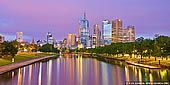 australia stock photography | Melbourne and Yarra River at Dawn, Swan Street Bridge, Melbourne, VIC, Australia, Image ID AU-MELBOURNE-0001. Looking over Melbourne CBD and Yarra River from the Swan Street bridge in Melbourne, VIC, Australia at dawn when city lights and rising Sun painted sky, buildings and river in warm and pink colours.