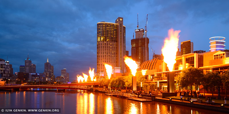 australia stock photography | Fire Show at Crown Casino, South Bank, Melbourne, VIC, Australia, Image ID AU-MELBOURNE-0003