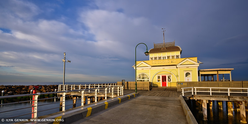 australia stock photography | St Kilda Pavilion at Sunrise, Melbourne, VIC, Australia
