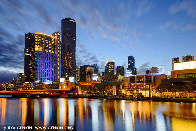 australia stock photography | Crown Casino before Sunrise, Melbourne, Victoria, Australia, Image ID AU-MELBOURNE-0039