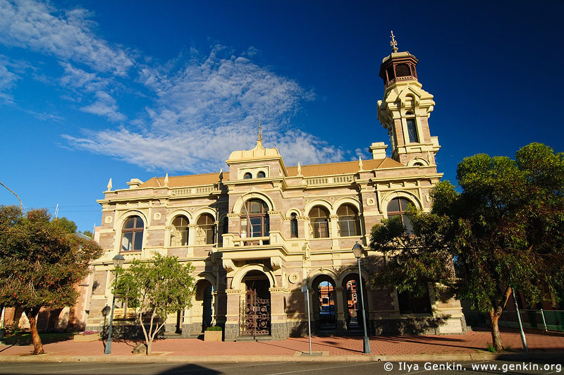 australia stock photography | Old Town Hall at Broken Hill, Broken Hill, NSW, Australia, Image ID AU-BROKEN-HILL-0003