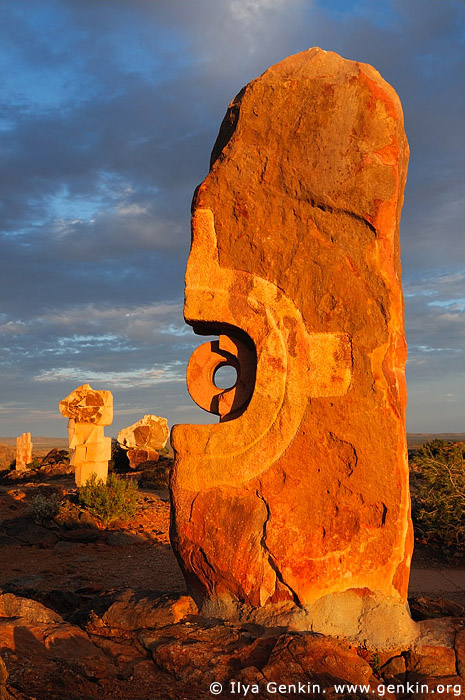 australia stock photography | Broken Hill Sculpture Symposium at Sunset, Broken Hill, NSW, Australia, Image ID AU-BROKEN-HILL-0009