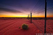 australia stock photography | Dingo Fence near Cameron Corner at Sunrise, Cameron Corner, NSW/QLD/SA, Australia, Image ID CAMERON-CORNER-NSW-QLD-SA-0003.