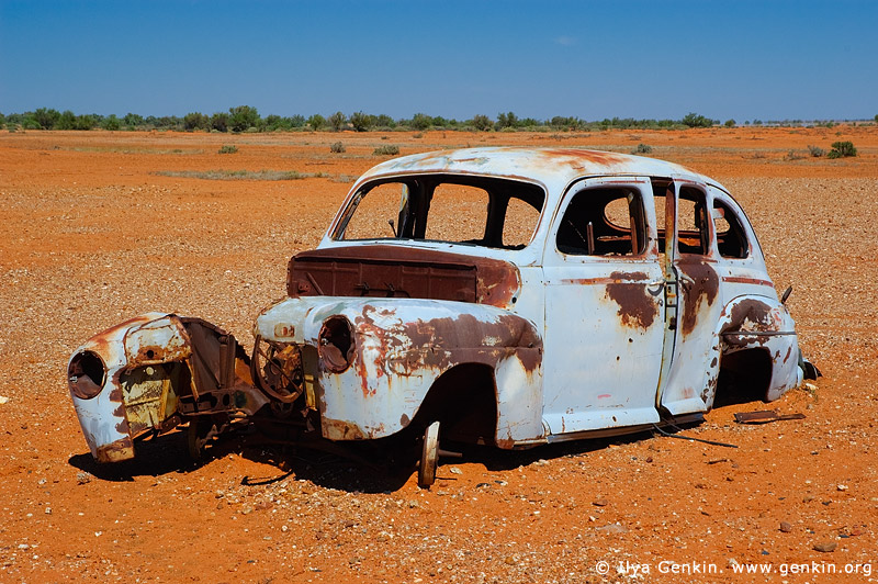 australia stock photography | Old and Rusty Car on a Road to Tibooburra, Tibooburra , Corner Country, NSW, Australia, Image ID CAMERON-CORNER-NSW-QLD-SA-0013