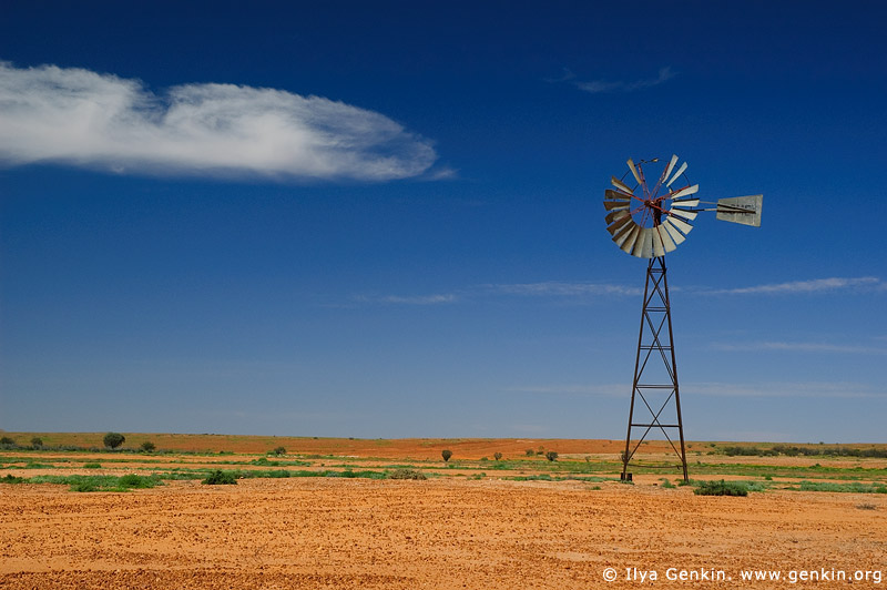 australia stock photography | Old Wind Mill, Corner Country, NSW, Australia, Image ID CAMERON-CORNER-NSW-QLD-SA-0017