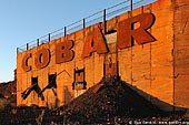 australia stock photography | The Sign That Greets Travellers to Cobar, Barrier Highway, Cobar, NSW, Australia, Image ID AU-COBAR-0001.