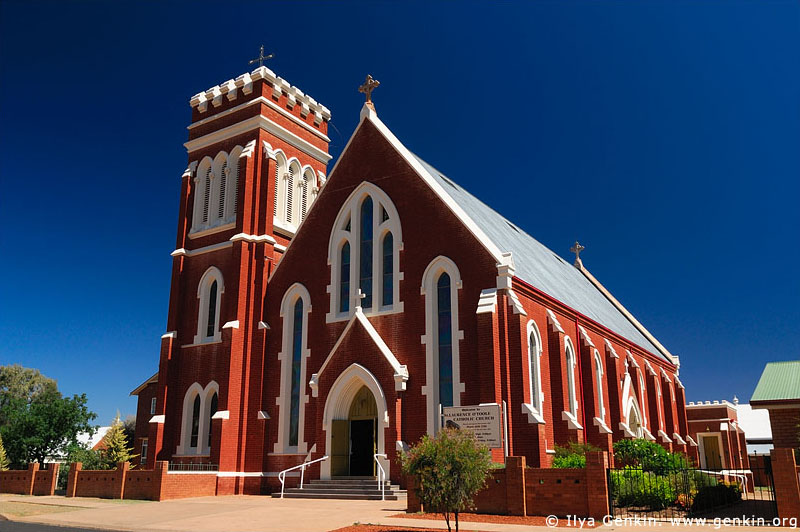 australia stock photography | St Lawrence O'Toole Catholic Church, Cobar, NSW, Australia, Image ID AU-COBAR-0006