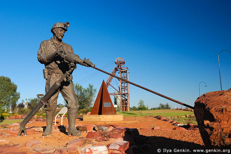 australia stock photography | Statue of a Miner in the Miners Heritage Park, Cobar, NSW, Australia, Image ID AU-COBAR-0008