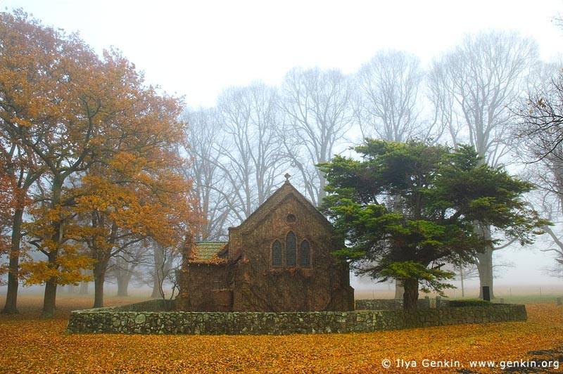 australia stock photography | All Saints' Church in Fall, Gostwyck, Uralla, NSW, Australia, Image ID AU-GOSTWYCK-0001