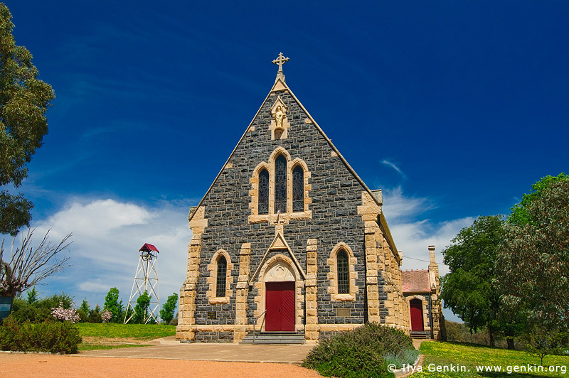 australia stock photography | Catholic Church, Binalong, NSW, Australia, Image ID AUNS0007