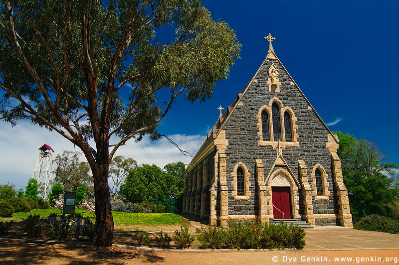 australia stock photography | Catholic Church, Binalong, NSW, Australia, Image ID AUNS0008