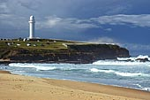 australia stock photography | Flagstaff Point, Flagstaff Point (Wollongong Head) from, Wollongong City Beach, Wollongong, NSW, Image ID AUWL0001.