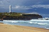 australia stock photography | Flagstaff Point, Flagstaff Point (Wollongong Head) from, Wollongong City Beach, Wollongong, NSW, Image ID AUWL0001.