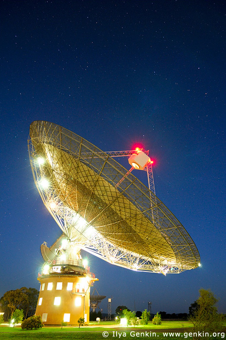 australia stock photography | Radio Antenna Dish at Night, Parkes, NSW, Australia, Image ID AU-PARKES-0003
