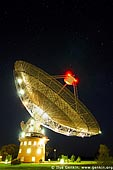 australia stock photography | Radio Antenna Dish at Night, Parkes, NSW, Australia, Image ID AU-PARKES-0004.