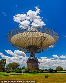 australia stock photography | 'The Dish' - Radio Telescope, Parkes, NSW, Australia, Image ID AU-PARKES-0007. Parkes Observatory, just outside the central-west NSW town of Parkes, hosts the 64-metre Parkes radio telescope, one of the telescopes comprising CSIRO's Australia Telescope National Facility. An icon of Australian science, the Parkes radio telescope has been in operation since 1961 and continues to be at the forefront of astronomical discovery thanks to regular upgrades. Astronomers from across Australia and around the world utilise the Parkes radio telescope to undertake world-class astronomical science. Affectionately known as 'the Dish', the telescope operates 24 hours a day, every day of the year. The observatory and telescope were featured in the 2000 film The Dish, a fictionalised account of the observatory's involvement with the Apollo 11 moon landing.