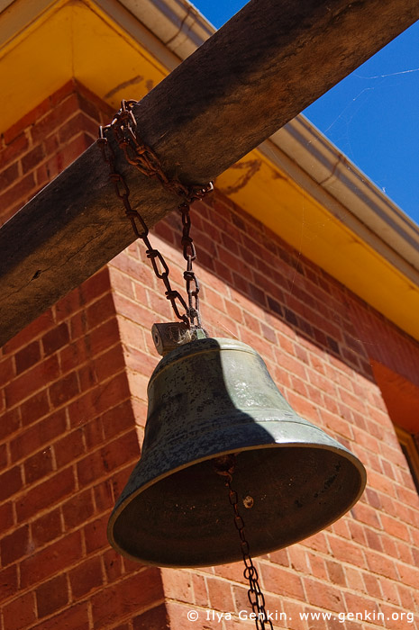 australia stock photography | Bell in Old Wentworth Gaol, Wentworth, New South Wales (NSW), Australia, Image ID AU-WENTWORTH-0018