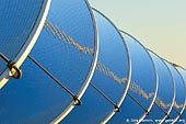 australia stock photography | Array of Dishes with Mirrors at Solar Power Station, White Cliffs, NSW, Australia, Image ID WHITE-CLIFFS-SOLAR-POWER-STATION-0007.