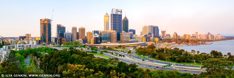 australia stock photography | Perth CBD from Kings Park, Perth, WA, Australia, Image ID AU-PERTH-0001