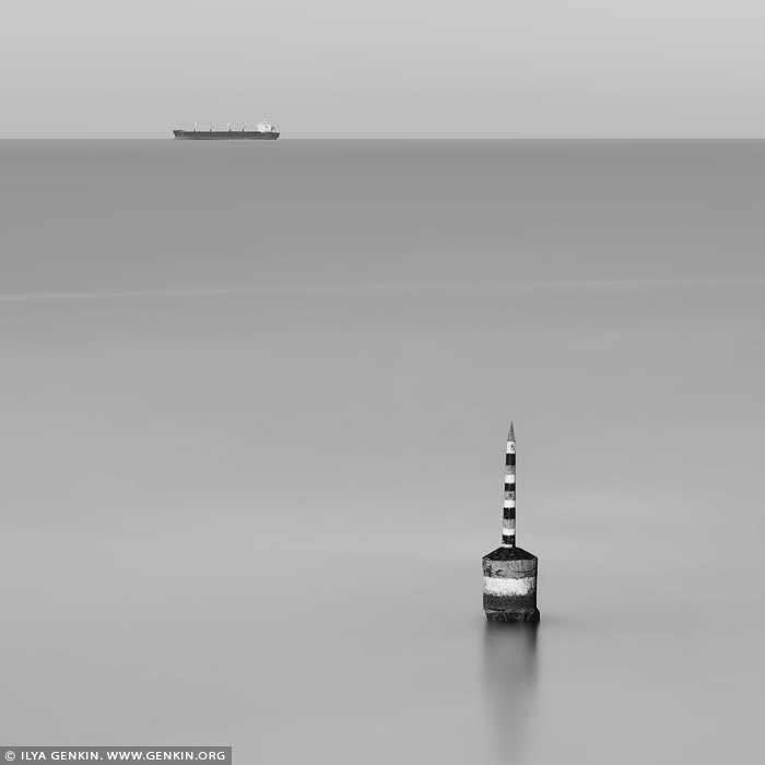australia stock photography | The Pylon. Study #1, Cottesloe Beach, Perth, WA, Australia, Image ID AU-PERTH-0006