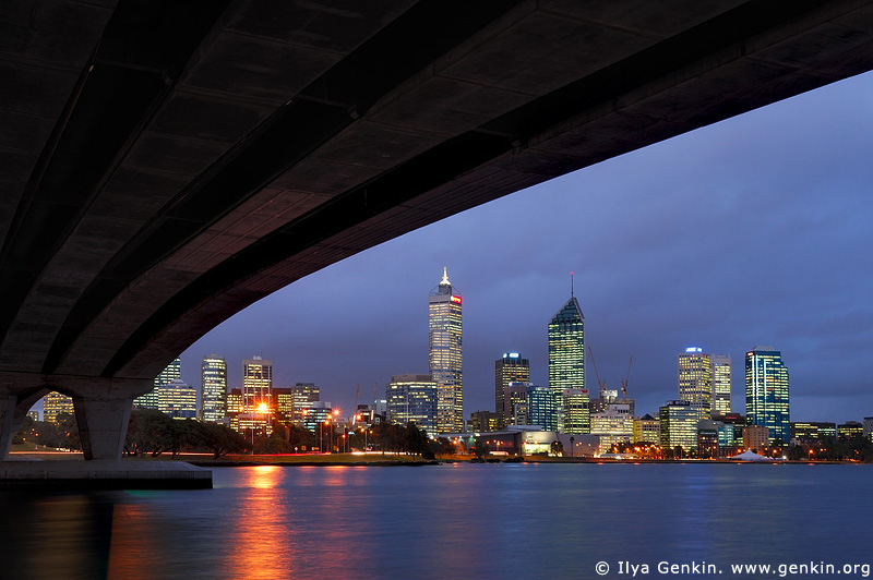 australia stock photography | Perth Downtown, View from under the Narrow Bridge, Perth, WA, Australia, Image ID AUPE0007