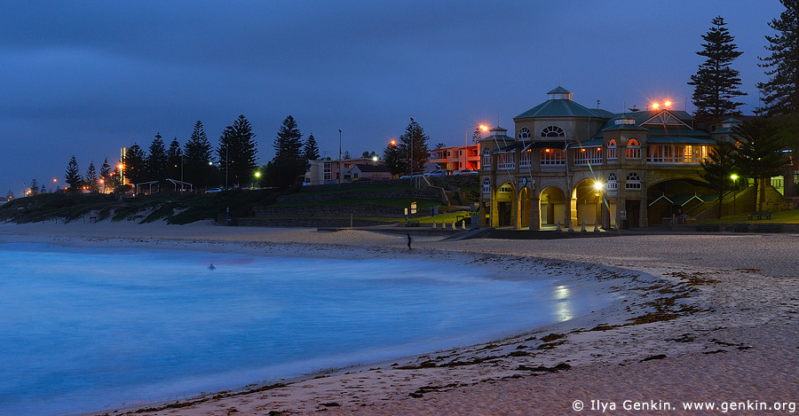 australia stock photography | The Indiana Teahouse at Night, Cottesloe Beach, Perth, WA, Australia, Image ID AUPE0009