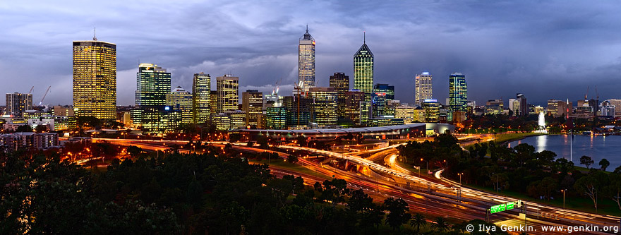 australia stock photography | Perth CBD, View from Kings Park, Perth, WA, Australia, Image ID AUPE0012