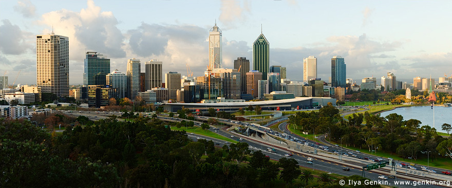 australia stock photography | Perth CBD, View from Kings Park, Perth, WA, Australia, Image ID AUPE0013