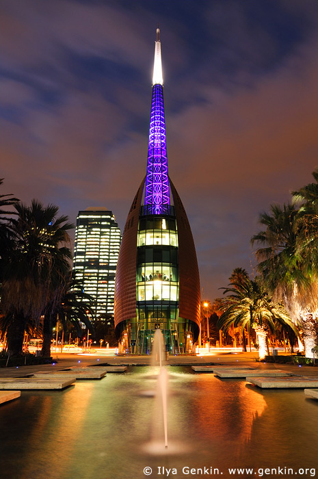 australia stock photography | The Swan Bell Tower at Night Perth WA Australia & The Swan Bell Tower at Night Photos Perth WA Australia Print ... azcodes.com