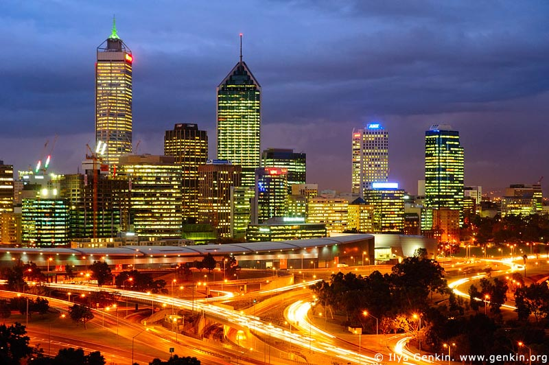 australia stock photography | Perth CBD, View from Kings Park, Perth, WA, Australia, Image ID AUPE0026