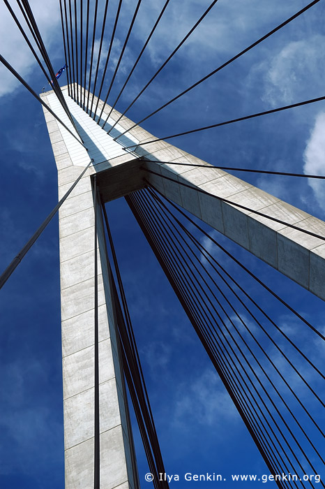 australia stock photography | Anzac Bridge Pylon, Glebe, Sydney, NSW, Australia, Image ID AU-SYDNEY-ANZAC-BRIDGE-0003