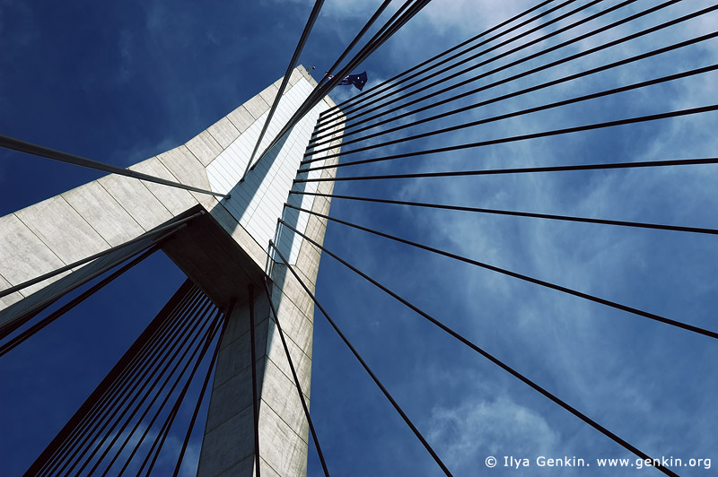 australia stock photography | Anzac Bridge Pylon, Glebe, Sydney, NSW, Australia, Image ID AU-SYDNEY-ANZAC-BRIDGE-0009
