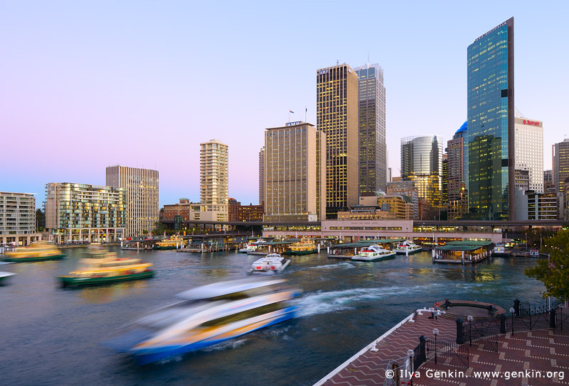 australia stock photography | Circular Quay and Sydney City at Twilight, Sydney, New South Wales (NSW), Australia.