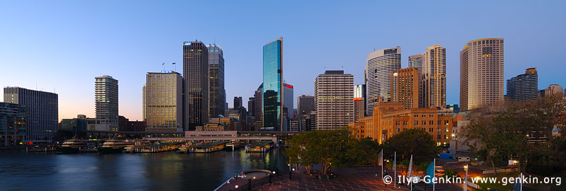 australia stock photography | Circular Quay and Sydney City at Dawn, Sydney, New South Wales (NSW), Australia., Image ID AU-SYDNEY-CIRCULAR-QUAY-0002