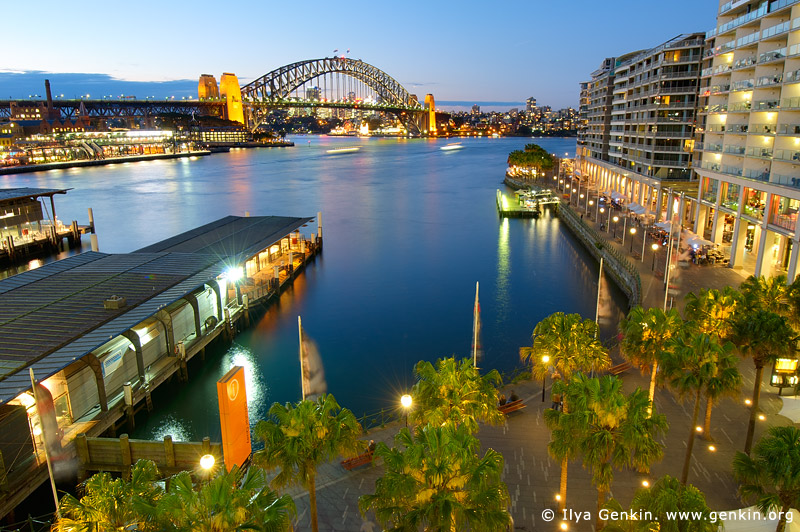 australia stock photography | Harbour Bridge and Circular Quay at Night, Sydney, New South Wales (NSW), Australia, Image ID AU-SYDNEY-CIRCULAR-QUAY-0006