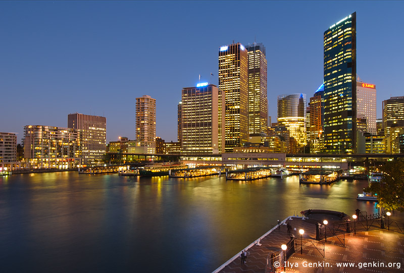 australia stock photography | Circular Quay at Night, Sydney, New South Wales (NSW), Australia, Image ID AU-SYDNEY-CIRCULAR-QUAY-0008