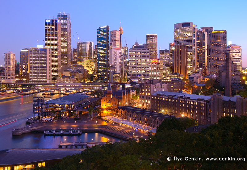australia stock photography | Circular Quay and Sydney City at Night, Sydney, New South Wales (NSW), Australia