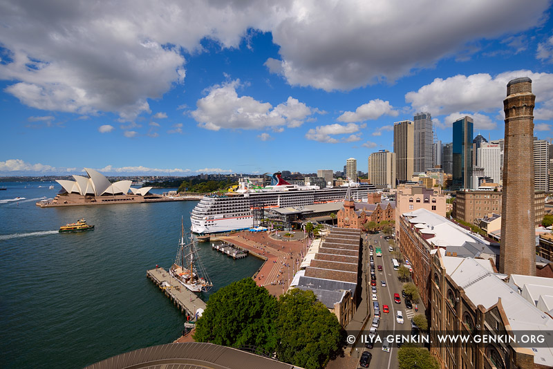 australia stock photography | Circular Quay and The Rocks from Harbour Bridge, Sydney, New South Wales (NSW), Australia, Image ID AU-SYDNEY-CIRCULAR-QUAY-0011