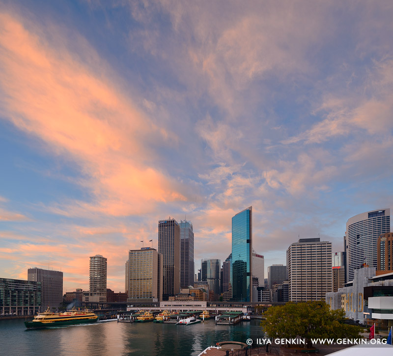 australia stock photography | Sunrise over Circular Quay, Sydney, New South Wales (NSW), Australia, Image ID AU-SYDNEY-CIRCULAR-QUAY-0012